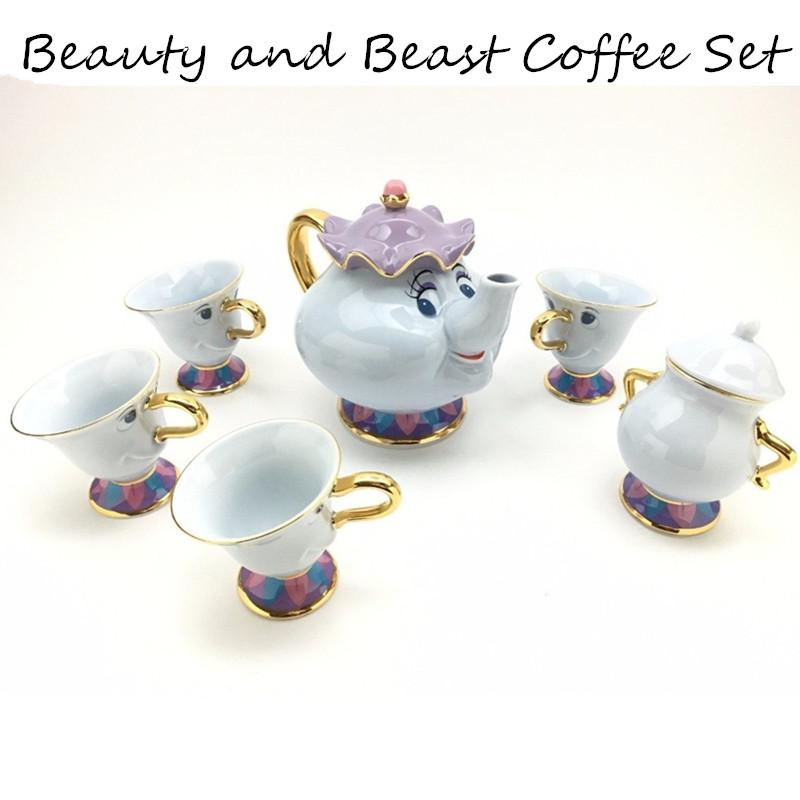 [해외]만화 아름다움과 야수 차 세트 찻 주전자 컵 부인 Potts 칩 벨라 전자 Fera 주전자 주전자 우유 커피 크리 에이 티브 선물/Cartoon Beauty And The Beast Tea Set Teapot Cup Mrs Potts Chip Bela E A F
