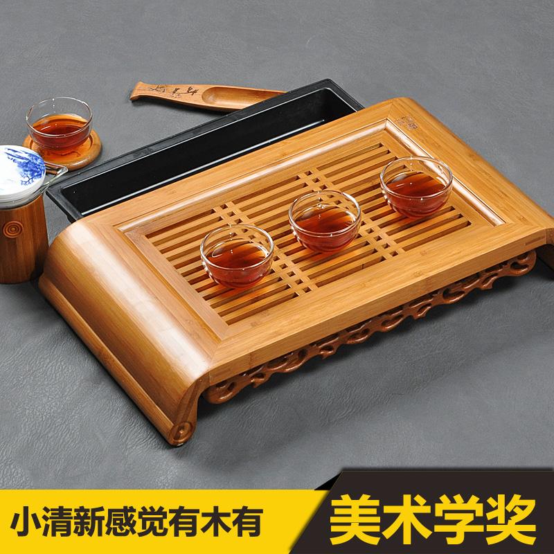 [해외]작은 홍콩 명나라의 지혜 * 대나무 Gongfu 차 테이블 서빙 트레이 40 * 22cm 대나무 차 테이블 어 차 세트 대나무 물 차 트레이/Small Kong Ming Wisdom * Bamboo Gongfu Tea Table Serving Tray 40*22