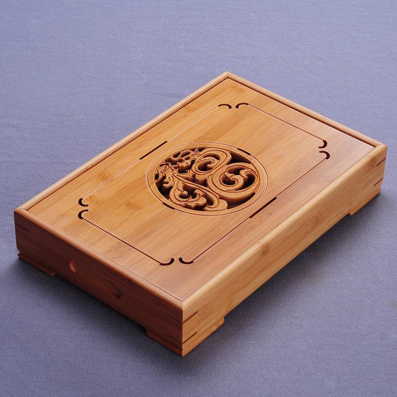 [해외][GRANDNESS]  드래곤 & amp; 피닉스 대나무 Kungfu 차 식탁 테이블 탁상용 쟁반 Kung Fu 차 쟁반 물 저장 유형/[GRANDNESS] China Dragon & Phoenix Bamboo Kungfu Tea Ceremony
