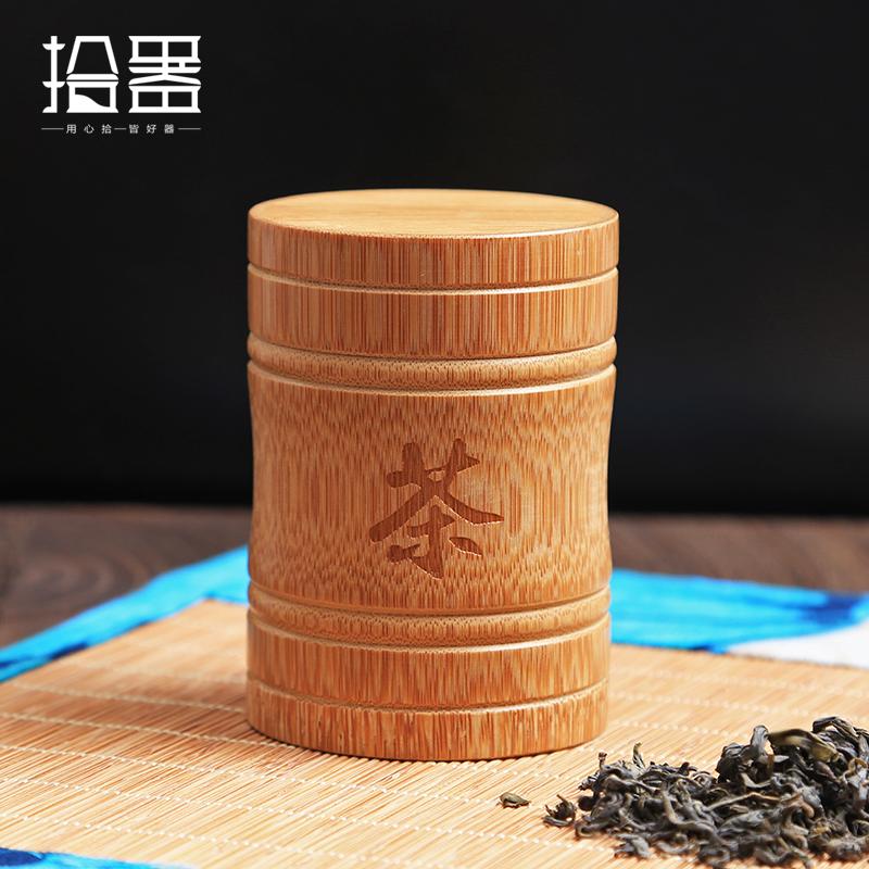 [해외]수제 대나무 차 양철통 양념 캐디 스토리지 박스 주최자 병 차 세트 박스 주방 액세서리 인감 커버 항아리 캐디 선물/Handmade Bamboo Tea Canister Spice Caddy Storage Box Organizer Bottle Tea Set Box