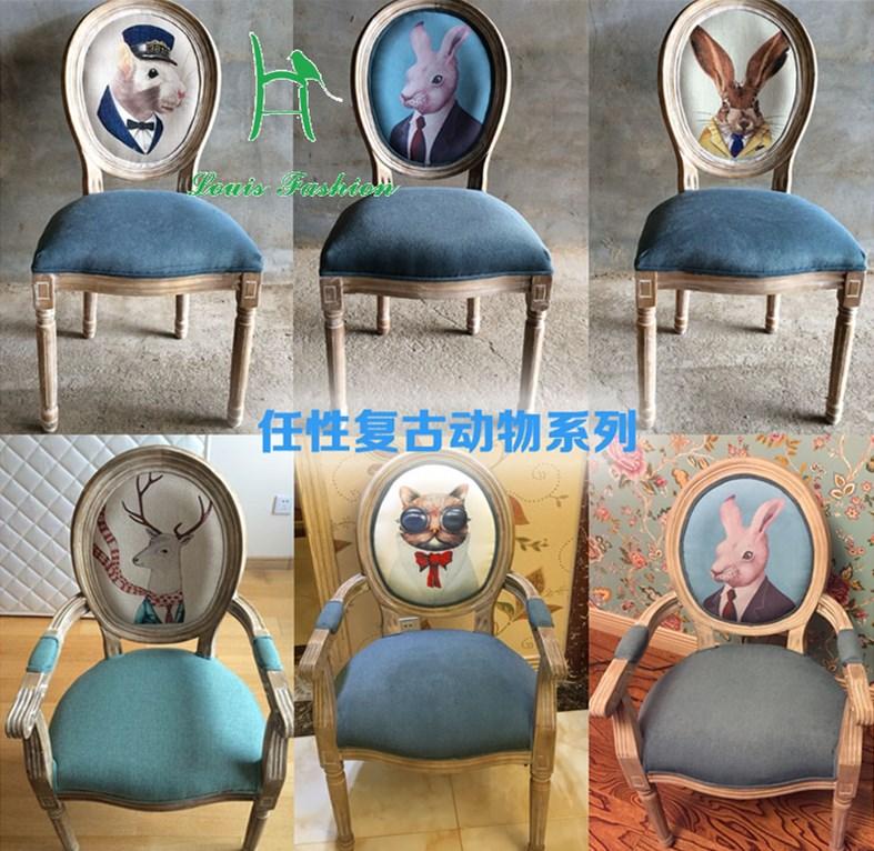 [해외]유럽 ??스타일 오래 된 구식 된 견고한 오크 나무 식사의 자 미국 레저의 자/Europe Style Old Fashioned solid  oak wood dining chair American leisure chair