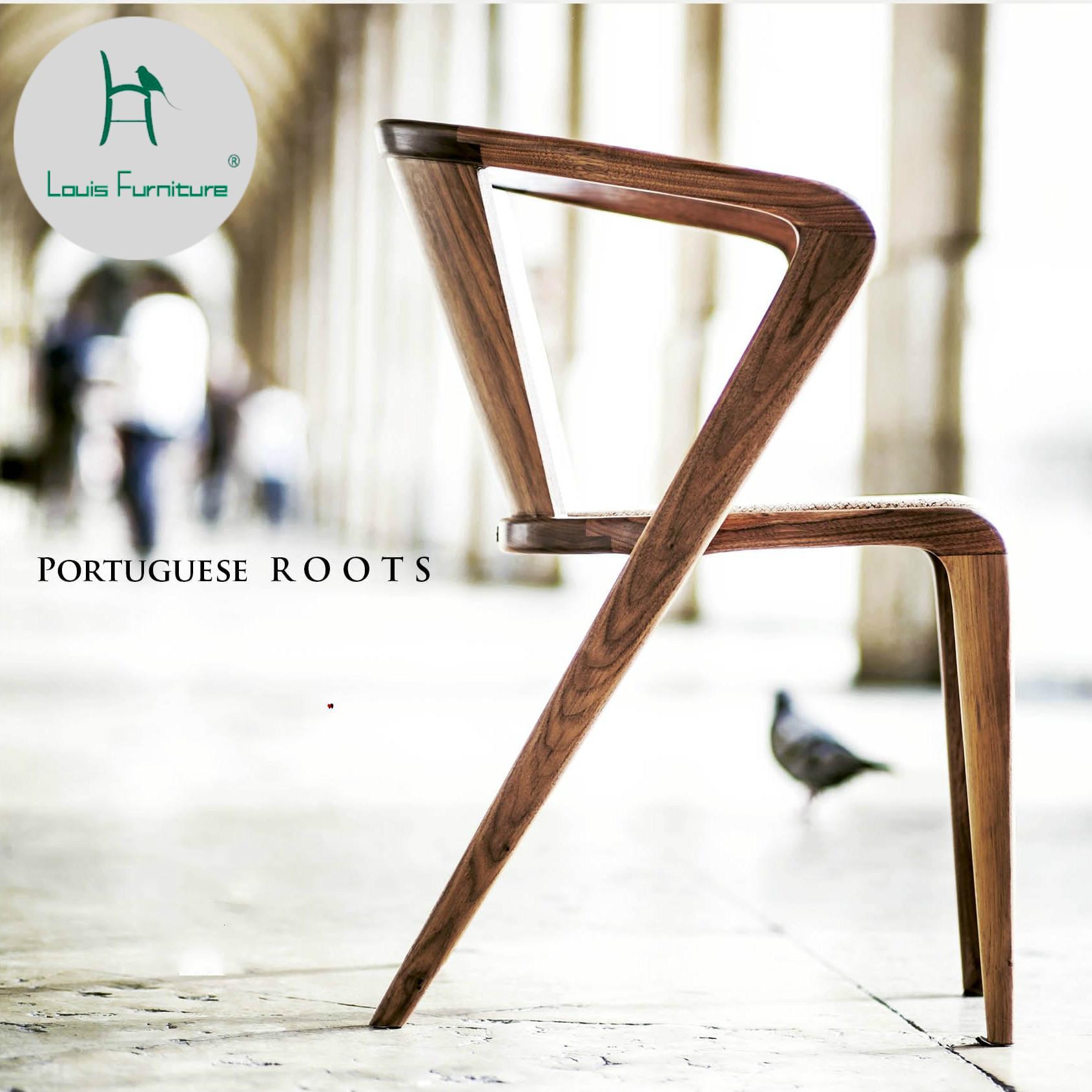 [해외]루이 패션 다이닝 의자 솔리드 우드 백 현대 현대 미국의 레저 토론 커피 숍 북유럽/Louis Fashion Dining Chair Solid Wood Back Modern Simple American Leisure Discussion Coffee Shop No