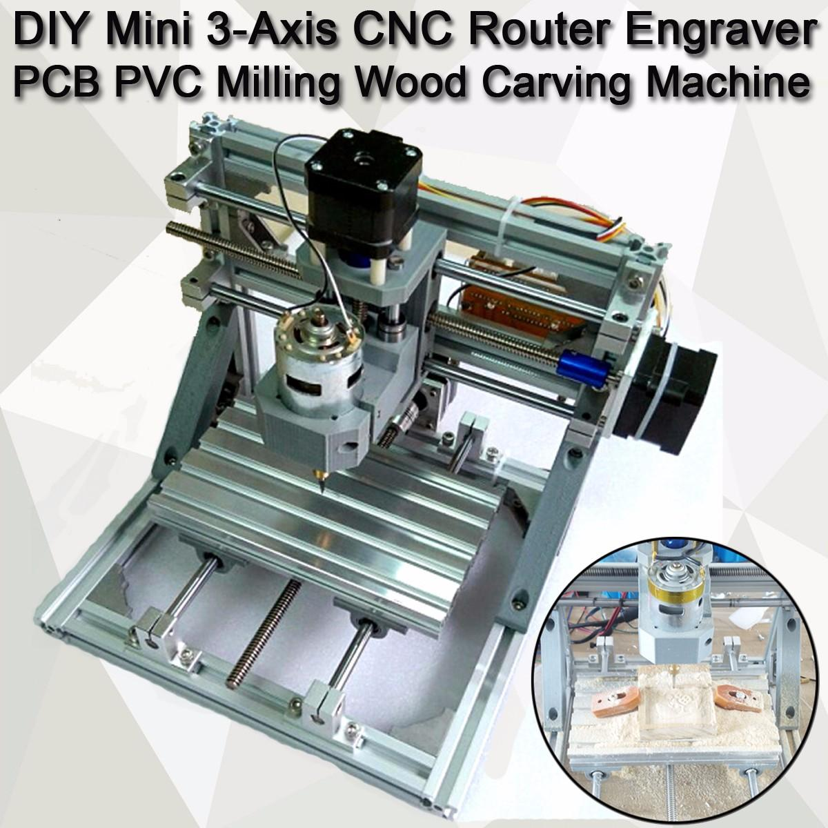 [해외]DIY 미니 3 축 라우터 CNC 1610 GRBL 제어 CNC 기계 조각사 PCB PVC 밀링 나무 조각 작업 영역 16x10.5x3cm/DIY Mini 3 Axis Router CNC 1610 GRBL Control CNC Machine Engraver PC