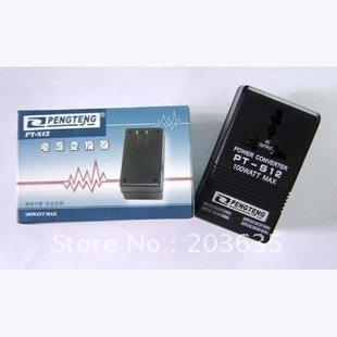 [해외]220V 여행 변압기 110V 110V로 PT-S12 블랙 100W 전압 220V 전력 변환기/PT-S12 Black 100W Voltage Power Converter 220V To 110V 110V To 220V Travel Transformer