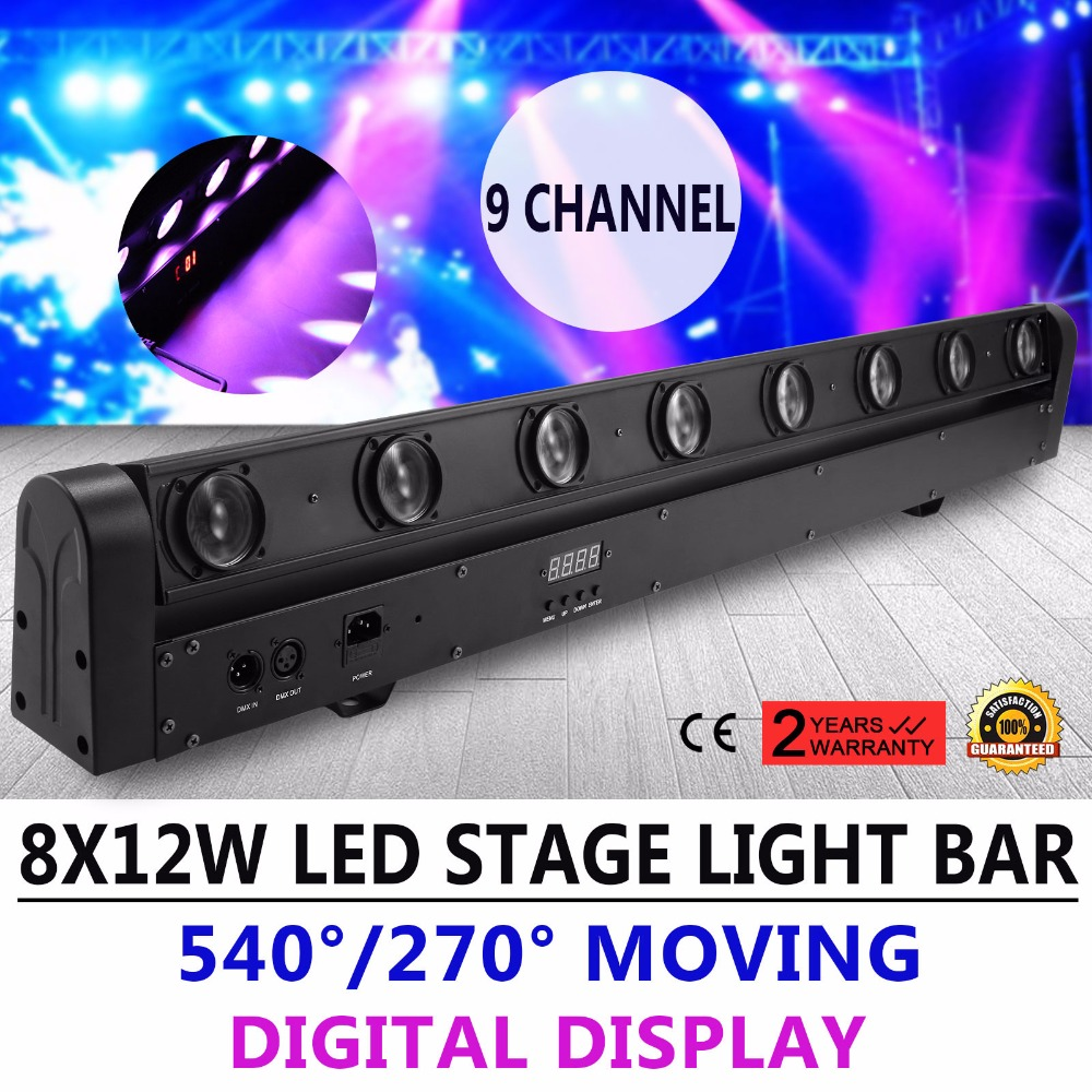[해외]8X12W 100W RGBW 1 빔 LED 막대 DMX DJ 무대 조명 이동 헤드 라이트/8X12W 100W RGBW 4 in 1 Beam LED Bar DMX DJ Stage Lighting Moving Head Light