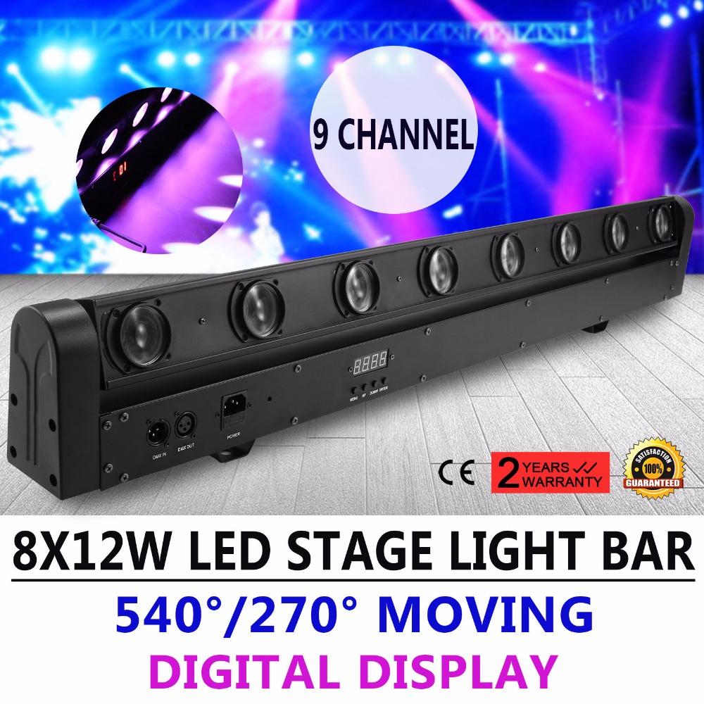 [해외]8X12W 100W RGBW 1 빔 LED 막대 DMX DJ 무대 조명 이동 헤드 라이트/8X12W 100W RGBW 4 in 1 Beam LED Bar DMX DJ Stage Lighting Moving Head Light