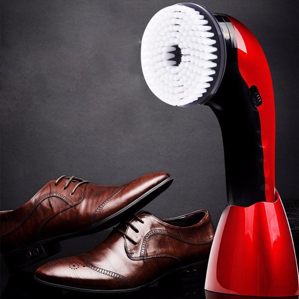 [해외]휴대용 핸드 헬드 자동 전기 신발 브러쉬 샤인 Polisher 2 가지 방법 전원 공급 장치/Portable Handheld Automatic Electric Shoe Brush Shine Polisher 2 Ways Power Supply