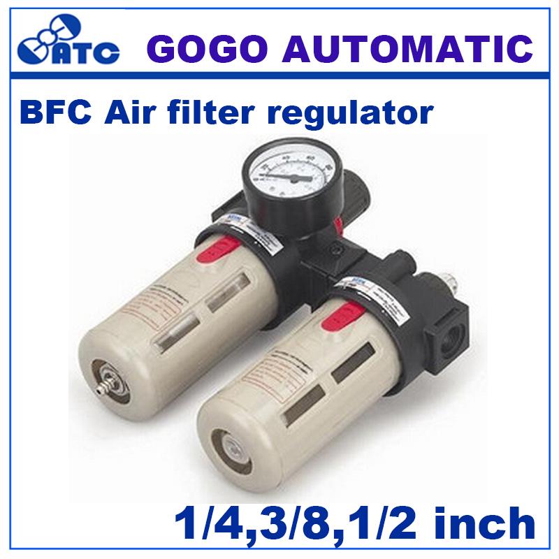 [해외]GOGO 공압 공기 frl BFC2000 / 3000 / 4000 1/4 3/8 1/2 인치 압력 게이지 필터 레귤레이터 윤활 장치 충진 기계/GOGO Pneumatic air frl BFC2000/3000/4000 1/4 3/8 1/2 inchpressure
