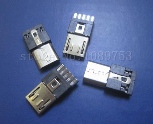 [해외]20Pcs 새로운 마이크로 USB 남성 5Pin 소켓 커넥터 와이어 타입 DIY/20Pcs New Micro USB Male 5Pin Socket Connector Wire-type DIY