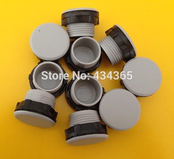 [해외]500pcs 22mm 설치 구멍 플라스틱 PT 스레드 그레이 / 블랙 플라스틱 버튼 스위치 패널 플러그 커버/500pcs  22mm mounting hole plastic PT Thread Gray/Black Plastic Button Switch Panel P