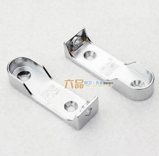[해외]1 쌍 옷장 튜브지지 브래킷 Dia.16mm의 튜브에 대 한 옷걸이 교수형 막대 홀더/1 pair Wardrobe tube support bracket Clothes Hanging Rod Holder fitting for tube of Dia.16mm