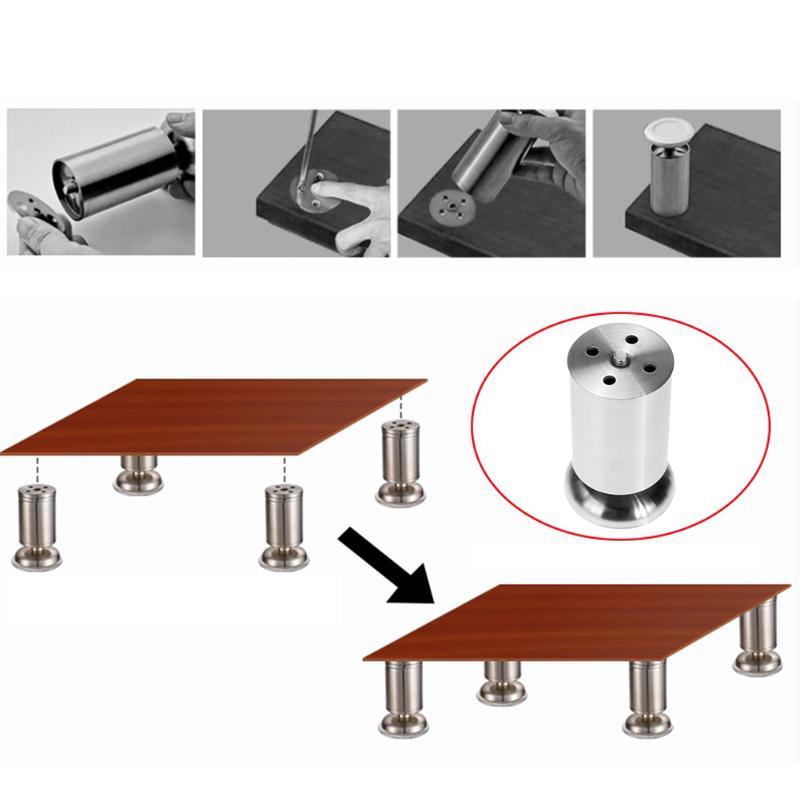 [해외]10cm / 8cm / 6cm 스테인리스 조정 가능한 내각 소파 발 둥근 가구 다리 소파 침대 찬장 내각 테이블 벤치 피트/10cm/8cm/6cmStainless Steel Adjustable Cabinets Sofa Feet Round Furniture Leg