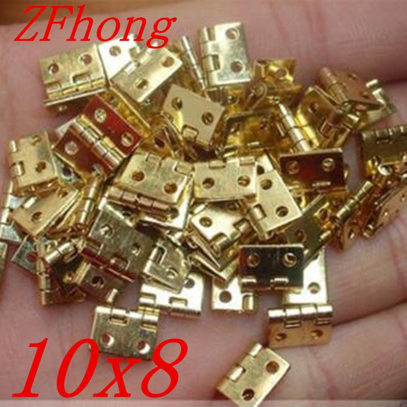 [해외]100PCS 10 * 8MM 미니 캐비닛 서랍 엉덩이 힌지 구리 골드 작은 경첩 4 작은 구멍 경첩/100PCS 10*8MM Mini Cabinet Drawer Butt Hinge Copper Gold Small Hinge 4 Small Hole Hinge