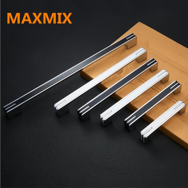 [해외]MAXMIX 96mm224mm 1PCS 가구 부엌 캐비닛 옷장 도어 검은 색 서랍 드레서 찬장 손잡이 당겨 핸들 흰색 핸들/MAXMIX 96mm224mm 1PCS furniture kitchen cabinet wardrobe door handles black d