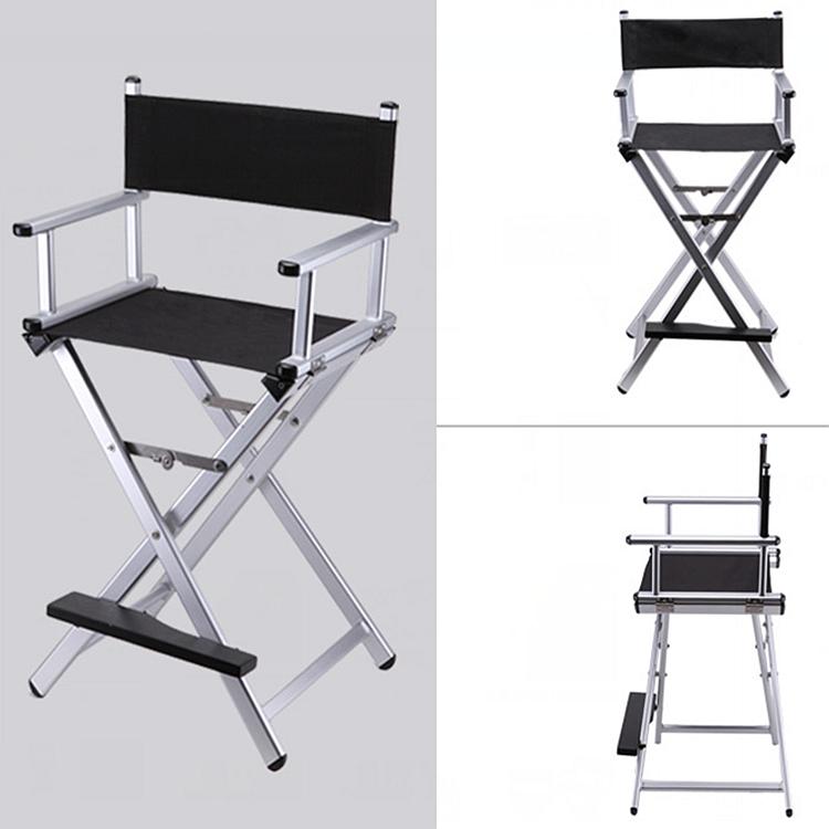 [해외]높은 알루미늄 프레임 메이크업 아티스트 디렉터 의자 Foldable 야외 가구 경량 휴대용 접는 감독 메이크업 의자/High Aluminum Frame Makeup Artist Director Chair Foldable Outdoor Furniture Light