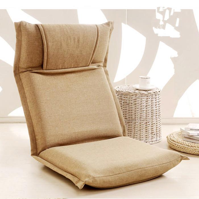 [해외]현대 바닥 안락 의자의 자 베이지 컬러 휴대용 바닥 접이식 안락 의자의 자 Upholstered 현대 패션 레저 안락 의자 소파/Modern Floor Recliner Chair Beige Color Portable Floor Foldable Recliner C