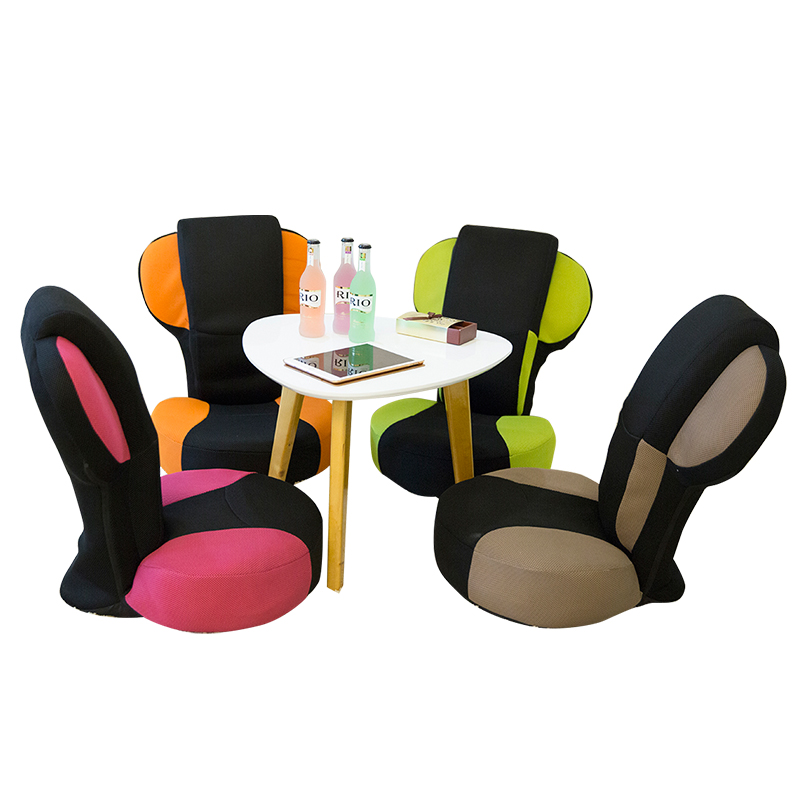 [해외]바닥 접이식 요가 게임용 의자 14 각도 조절 가능 전면 및 후면 팔꿈치 휴게 의자 인체 공학 형 무릎   의자 요가 자세 운동/Floor Folding Yoga Gaming Chair 14 Angle Adjustable Front&Back Elbow R
