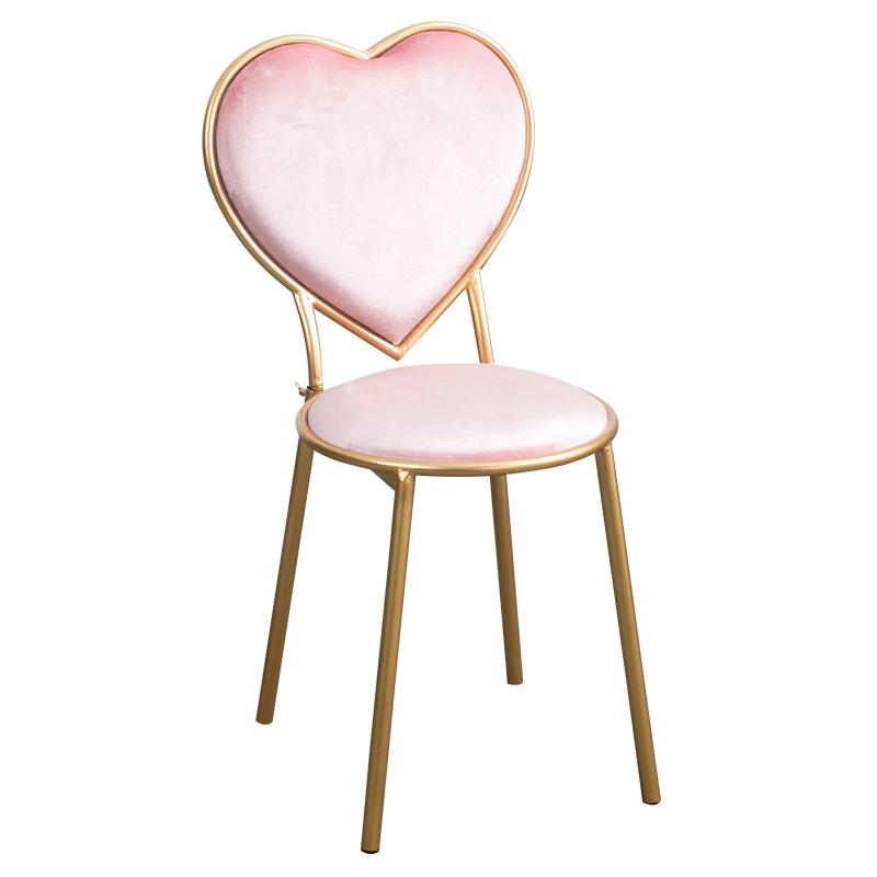 [해외]2018 시간 제한 Sedie 라운지 의자 북유럽 심장 의자 철제 식사 네일 커피 골드 드레서 벨벳 레저 의자 금속 현대/2018 Time-limited Sedie Lounge Chair Nordic Heart Chair Iron Dining Nail Coffe