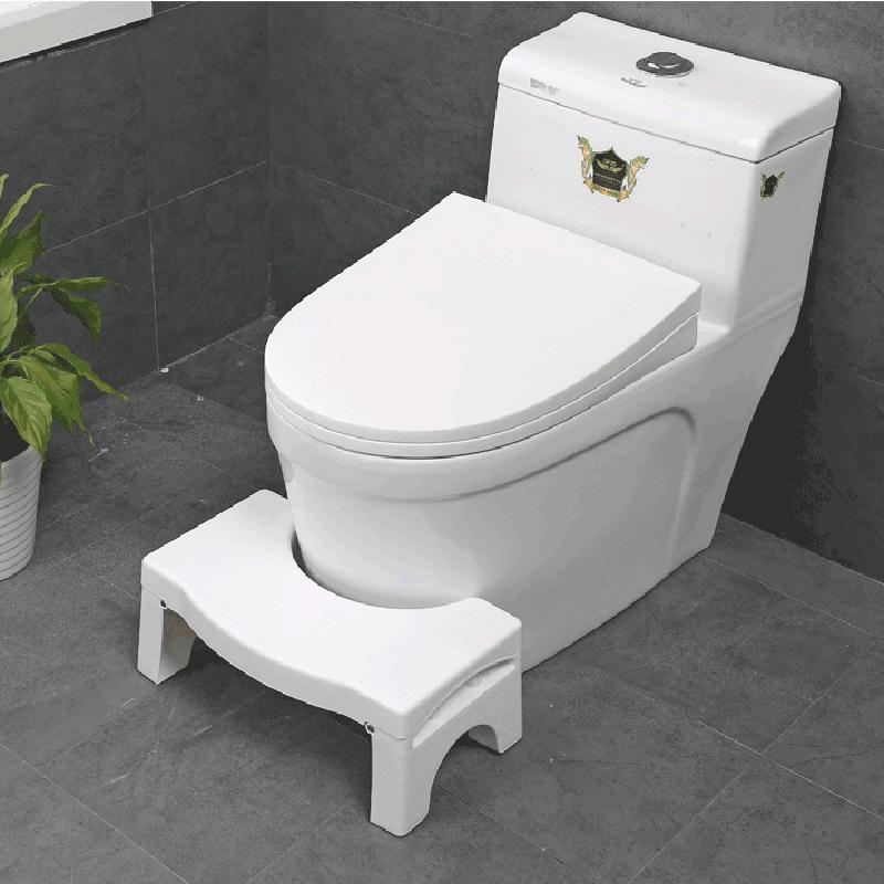 [해외]비 슬립 화장실 발 의자 접는 어린이 & 화장실 변기 전문 화장실 보조 의자 욕실 용품 41 * 25 * 17.5cm/Non-slip Toilet Foot Stool Folding Children&s Potty Footstool Professional T