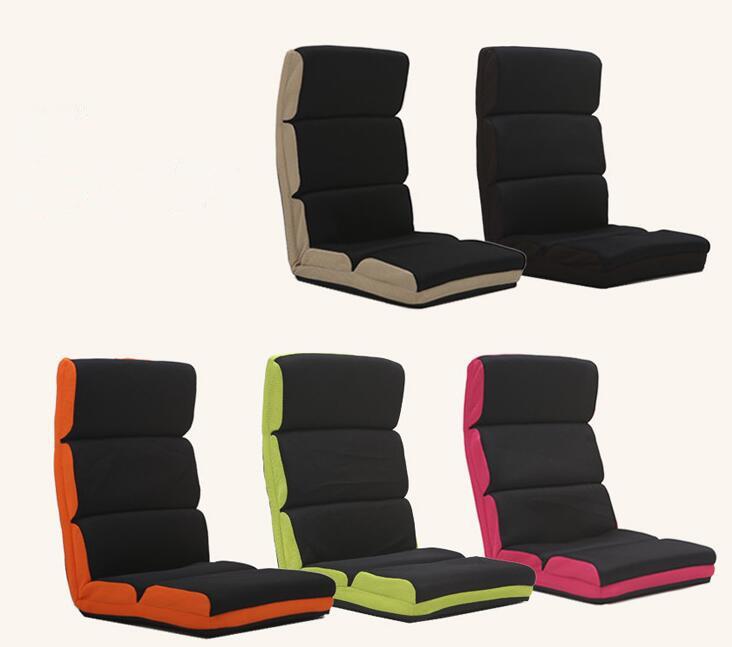 [해외]조정 가능한 플로어 의자 접는 소파 소파 6 위치 Multiangle 게으른 의자 부드러운 쿠션 다다미 접이식 안락 의자 라운지 의자/Adjustable Floor Chair Folding Couch Sofa Six-position Multiangle Lazy