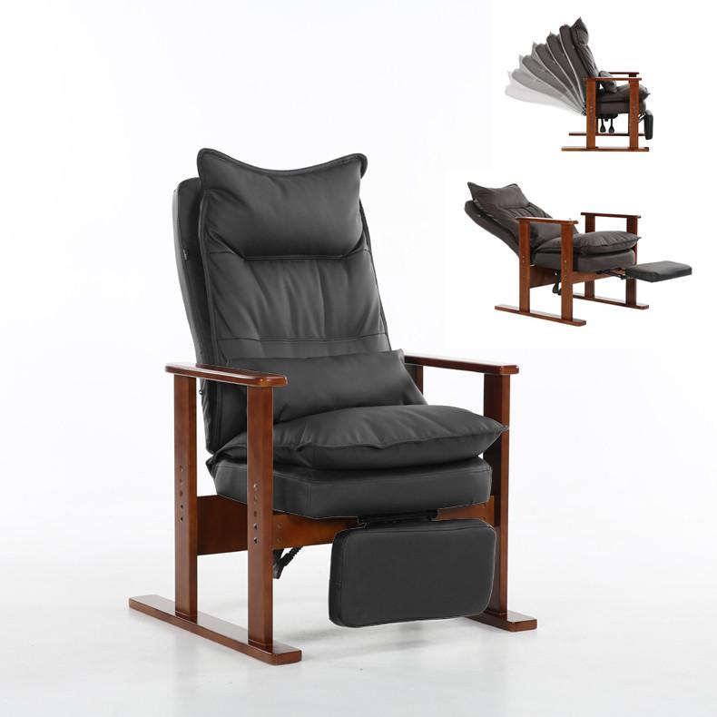 [해외]살이 포동 포동하게 찐된 안락 의자의 자 브라운 완성 된 다리의 나무 낮은 좌석 현대 라운지의 자 거실 가구 Reclinining Recliner/Upholstered Armchair Chair Brown Finished Leg Wooden Low-Seat Co