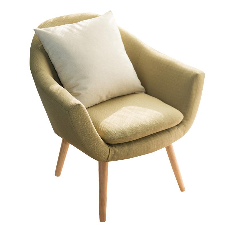 [해외]우아한 업홀 스터드 패브릭 클럽 의자 승 / 솔리드 우드 다리 액센트의 자 집 호텔을거실 가구 안락의 자 현관 현대/Elegant Upholstered Fabric Club Chair W/Solid Wood Legs Accent Chair For Home Hot