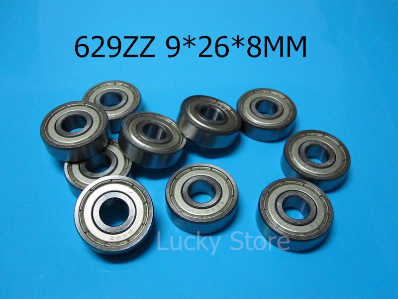 [해외]629Z 베어링 10pcs 금속 밀폐형 미니어처 베어링 629 629Z 629ZZ 9 * 26 * 8mm 크롬 강 깊은 홈 베어링/629Z bearings 10pcs metal Sealed Miniature Bearing 629 629Z 629ZZ 9*26*8m