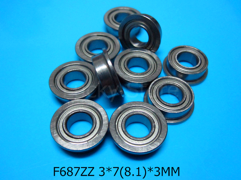 [해외]F687ZZ 플랜지 베어링 687 F687Z F687ZZ 7 * 14 & 16 * 5 mm 크롬 강 깊은 홈 베어링/F687ZZ Flange bearings  687 F687Z F687ZZ 7*14&16*5 mm chrome steel deep g