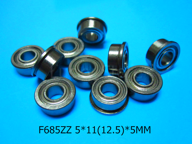 [해외]F685ZZ 플랜지 베어링 685 F685Z F685ZZ 5 * 11 & 12.5 * 5mm 크롬 강 깊은 홈 베어링/F685ZZ Flange bearings 685 F685Z F685ZZ 5*11&12.5*5mm chrome steel deep