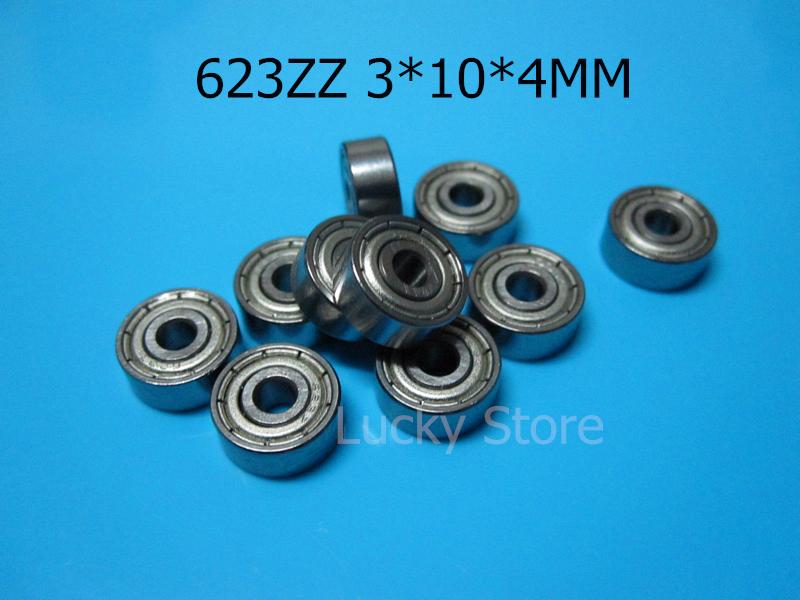 [해외]623Z ABEC-5 크롬 강철 방위 10pcs 금속은 소형 방위 623 623Z 623ZZ 3 * 10 * 4 mm를 방수 처리했다/623Z ABEC-5 Chrome steel bearings 10pcs metal Sealed Miniature Mini Bea