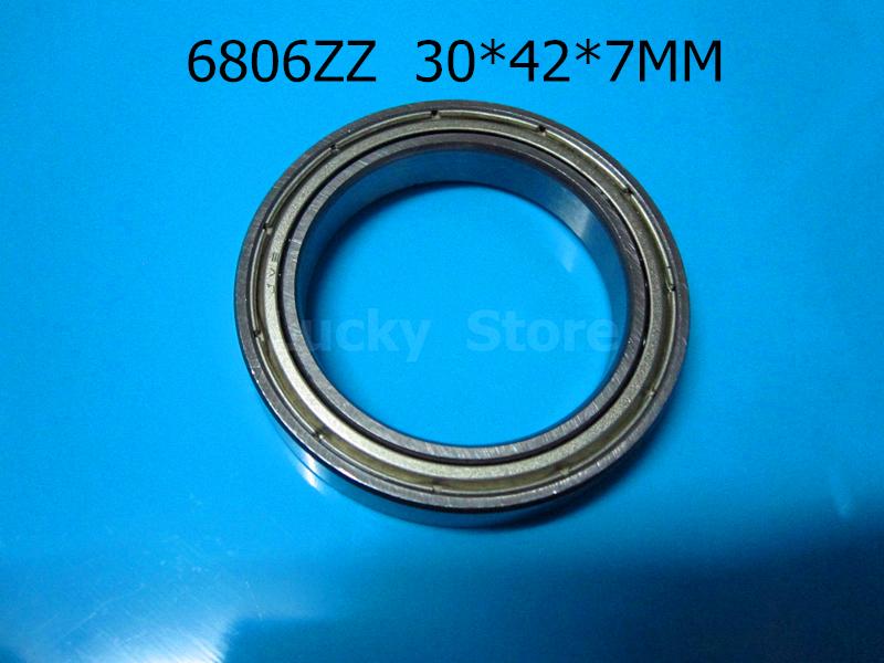 [해외]6806ZZ 1PC 베어링 금속 밀폐 베어링 6806 6806Z 6806ZZ 30 * 42 * 7mm 크롬 강 깊은 홈 베어링/6806ZZ 1PC  bearing  Metal sealed bearing 6806 6806Z 6806ZZ 30*42*7 mm chro