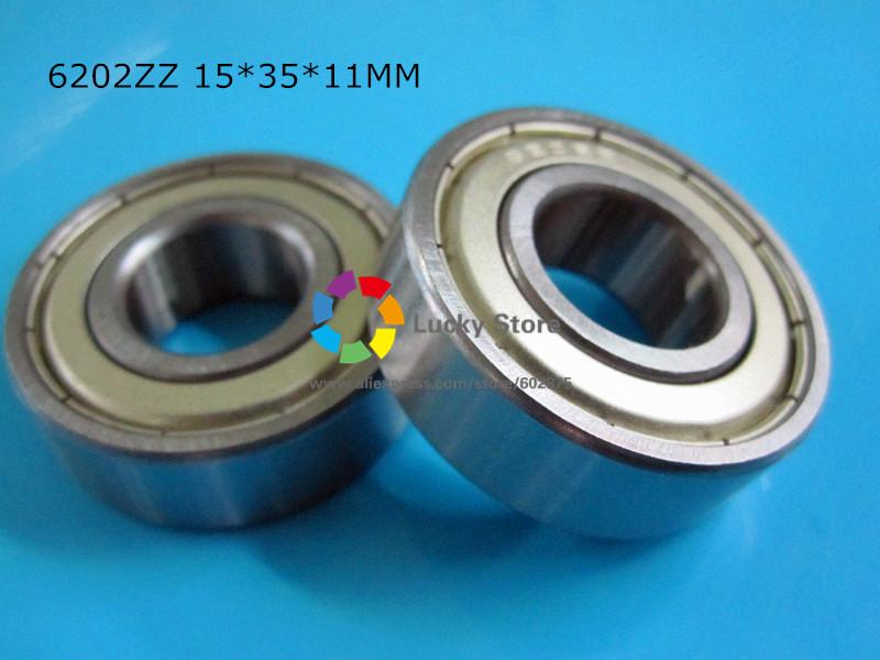 [해외]6202ZZ 1 조각 베어링 금속 씰링 베어링 6202 6202Z 6202ZZ 15 * 35 * 11mm 크롬 강 깊은 홈 베어링/6202ZZ 1 Piece bearing metal sealing bearings  6202 6202Z 6202ZZ 15*35*11