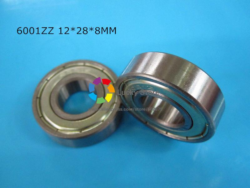 [해외]6001ZZ 1 조각 베어링 6001 6001Z 6001ZZ 12 * 28 * 8mm 크롬 강 깊은 홈 베어링/6001ZZ 1Piece bearing  6001 6001Z 6001ZZ 12*28*8mm chrome steel deep groove bearing