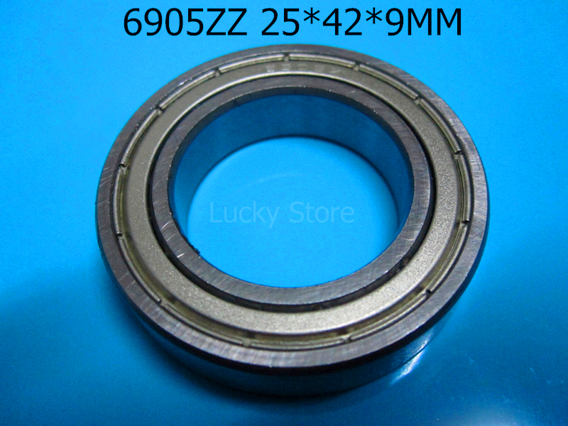 [해외]6905ZZ 1PC 베어링 금속 밀폐 베어링 얇은 벽 베어링 6905 6905ZZ 25 * 42 * 9 mm 크롬 강 깊은 홈 베어링/6905ZZ  1PC bearing Metal sealed bearing Thin wall bearing 6905 6905ZZ