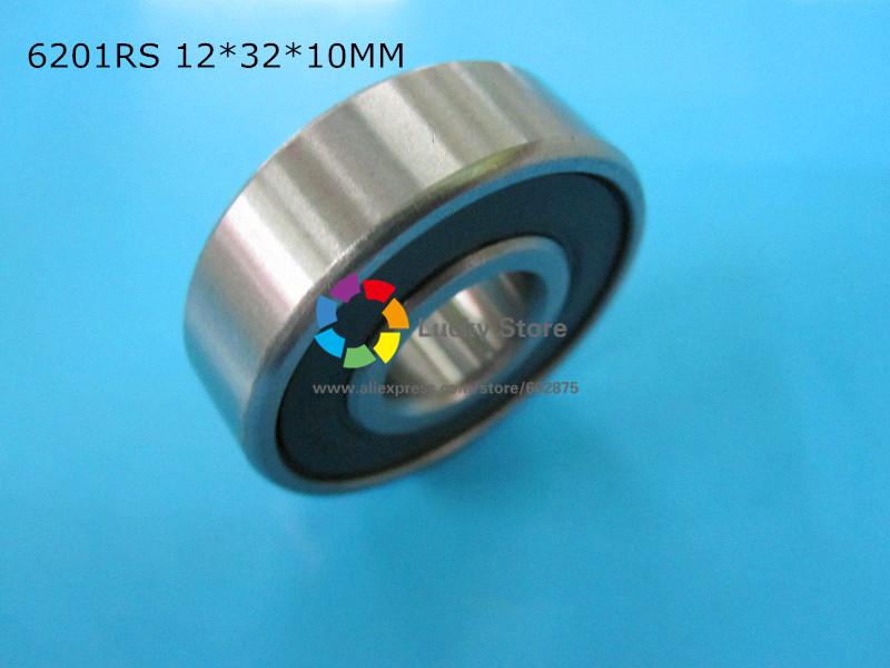 [해외]6201RS 1 조각 베어링 고무 씰링 베어링 6201 6201RS 12 * 32 * 10mm 크롬 강 깊은 홈 베어링/6201RS 1 Piece bearing rubber sealing bearings  6201 6201RS 12*32*10mm chrome s