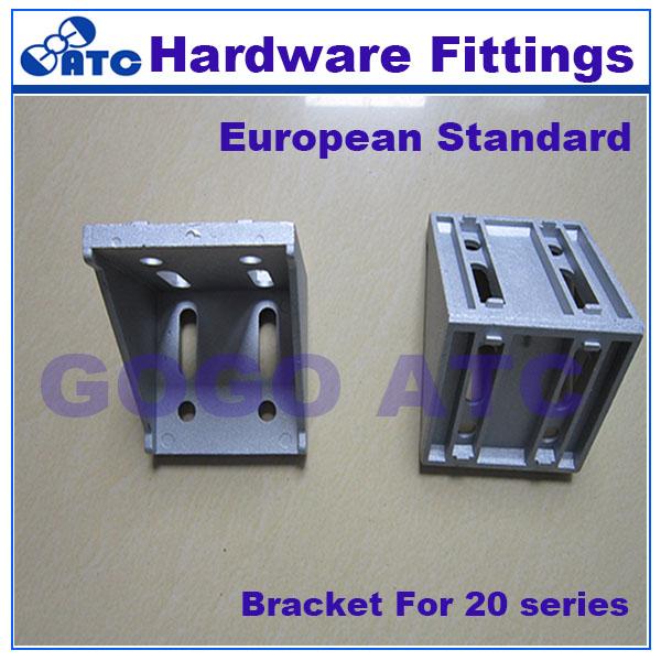 [해외]고품질 기준 50pcs / lot 알루미늄 단면도 조정 가능한 20의 시리즈 조정 가능한 45도 꺽쇠 빗기 직각 연결 관/High quality standard 50pcs/lot aluminium profile adjustable 20 series adjusta