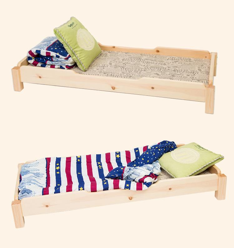 [해외]어린이 침대 어린이 가구 유치원 낮잠 침대 어린이 & 단단한 나무 침대 푸시 - 풀 학생 침대 핫 새로운 140 * 64 * 2/Children Beds Children Furniture kindergarten Nap bed children&s solid