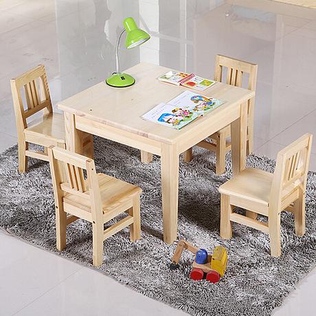[해외]어린이 가구 세트 단단한 나무 테이블과 의자 어린이 가구 세트 4 개의 의자 1 세트 테이블 크기를 사용자 정의 할 수 /Children Furniture Sets solid wood children table and chairs set one table fou