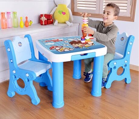 [해외]어린이 가구 세트 플라스틱 어린이 테이블과 의자 세트 작은 사각형 테이블 유치원 하나 테이블 두 의자 세트/Children Furniture Sets plastic children table and chairs set small square table kinde