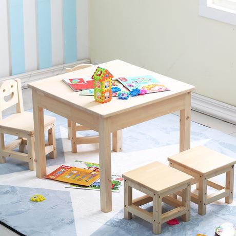[해외]어린이 가구 세트 아동용 테이블 의자 2 점 세트 어린이 의자 2 점 세트 아동 가구 단단한 가구 세트/Children Furniture Sets solid wood children table and chairs set one table two chairs tw