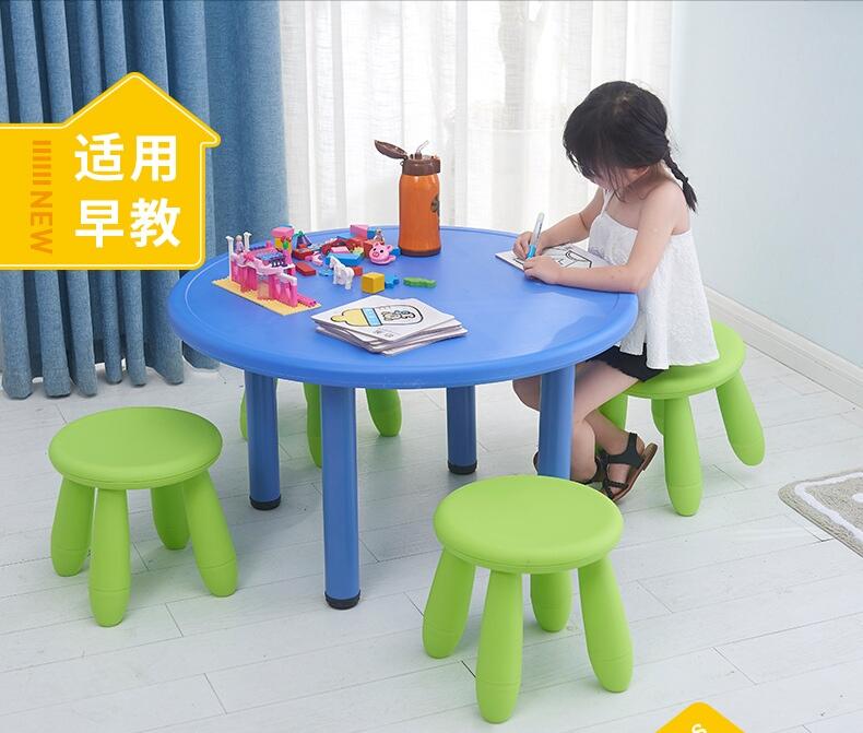 [해외]어린이 가구 세트 하나의 테이블 + 두 개의 의자 또는 네 의자 세트 플라스틱 + 강철 라운드 테이블 고체 핫 새로운 2018 리프팅/Children Furniture Sets one table+two chairs or four stools sets plasti