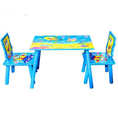[해외]어린이 가구 세트 하나의 책상 + 두 개의 의자가 유치원 패널 나무 동물 어린이 세트 가구 새로운 40 * 60 * 42 * cm를 설정합니다/Children Furniture Sets one desk+ two chairs sets kindergarten pan