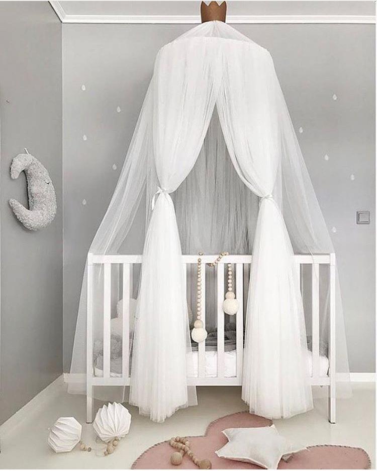 [해외]JY79 캐노피 침대 모기장 장식 가정 침대 커튼 둥근 어린이 침대 그물 세팅 아기 텐트 빛 쉬폰 원사 D 돔 Mosquit Net/JY79 Canopy Bed Mosquito Net Decoration Home Bed Curtain Round Crib Nett
