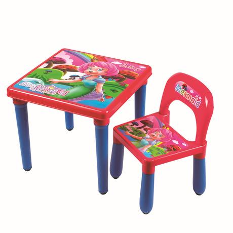 [해외]플라스틱 어린이 가구 세트 어린이 한 조각 자 + 한 조각 테이블은 핫 새로운 좋은 가격 품질을 설정 2018 패션/Plastic Children Furniture Sets Children one piece Chair +one piece table sets wh