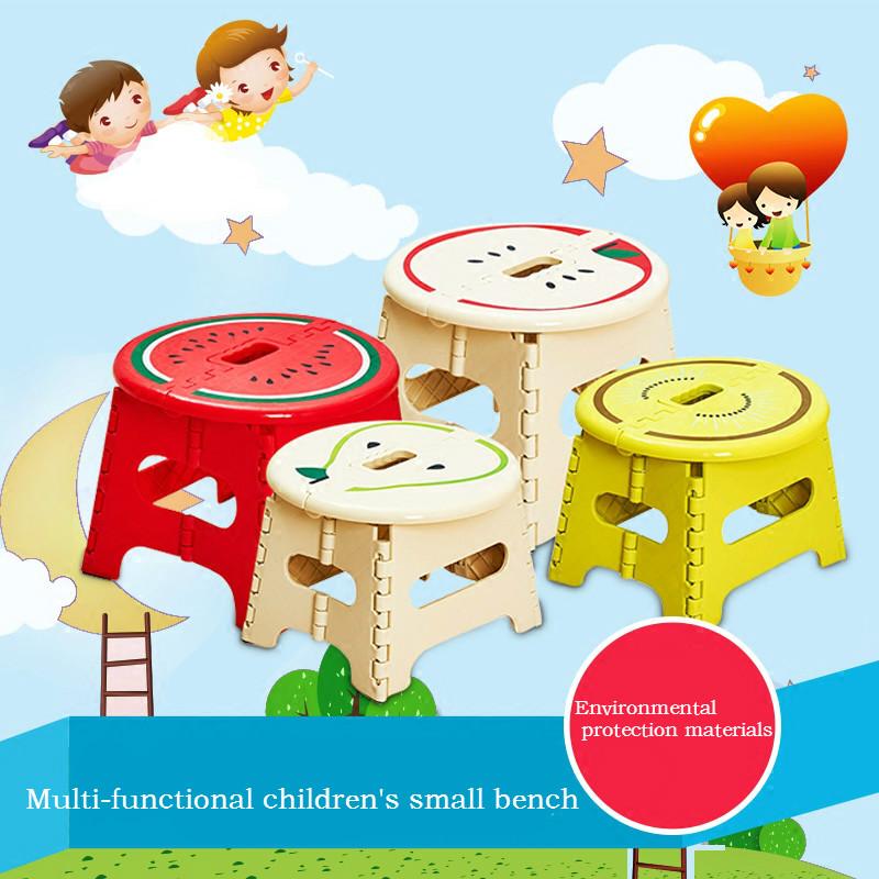 [해외]품질 두꺼운 미니 대변 어린이 만화 접이식 의자 비 슬립 과일 크리 에이 티브 플라스틱 벤치 의자 의자를 의자/Quality thickening mini stool children cartoon folding stool non-slip fruit creative