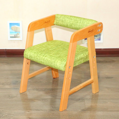 [해외]어린이 의자 어린이 가구 간단한 녹색 단단한 의자 2018 핫 31 * 35 * 43.5 cm 조절 가능한 등 받침/Children chairs Children Furniture Simple green solid wood chairs quality 2018 wh