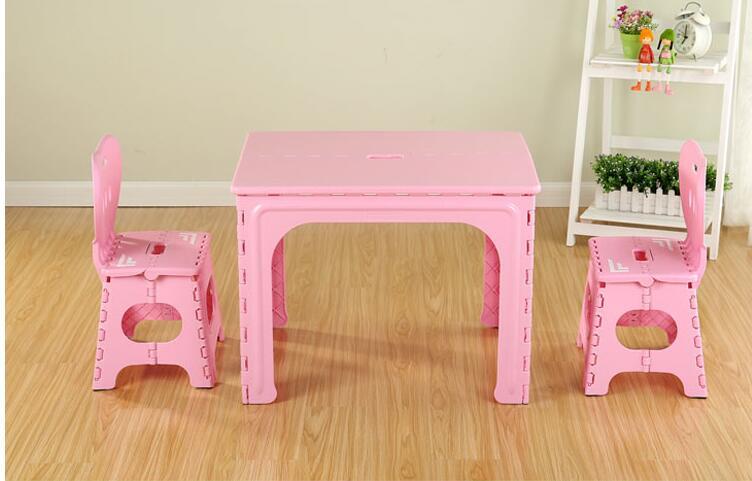 [해외]어린이 테이블. 유치원 플라스틱 접는 테이블과 의자 세트./Children&s table. The kindergarten plastic folding table and chair set.