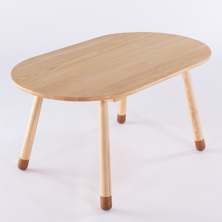 [해외]어린이 테이블 어린이 가구 단단한 나무 아이들 연구 테이블 어셈블리 100 * 60 * 50cm / 60 * 60 * 50cm 타원형 / 광장/Children Tables Children Furniture solid wood children study table