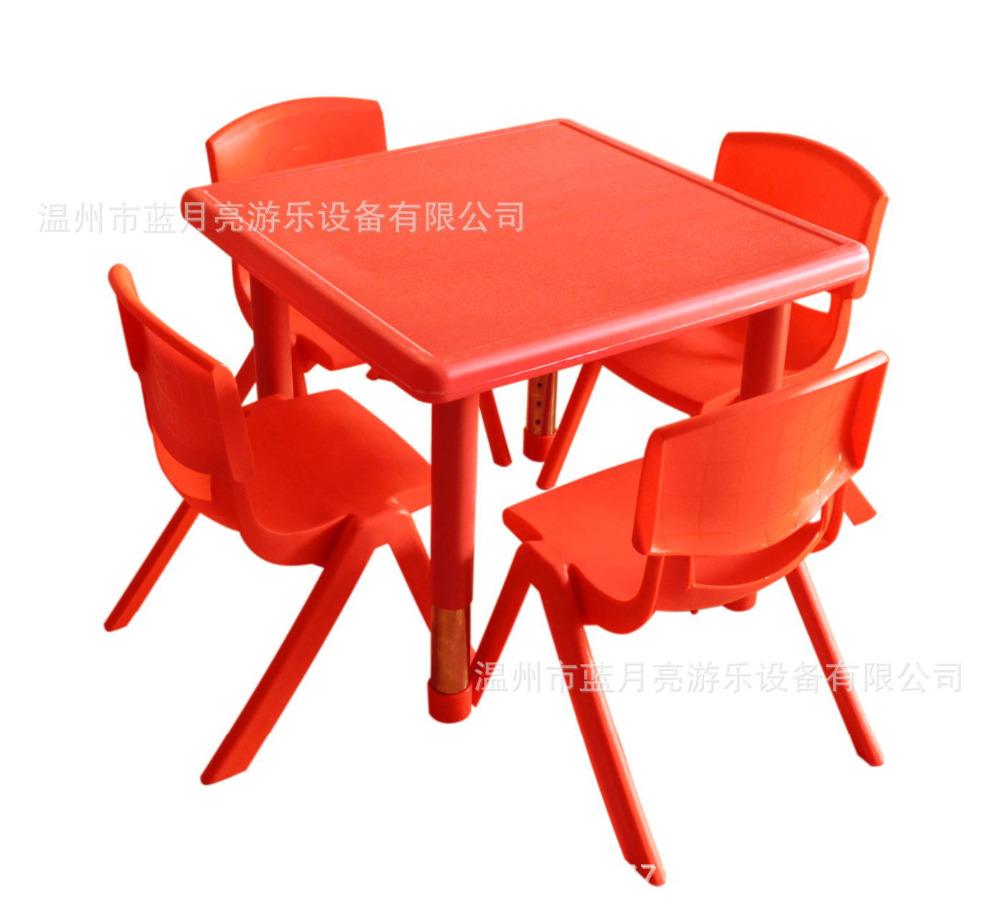 [해외]60X60X37 / 62cm 고품질 조정 가능한 사각 아이들 탁상용 유치원 책상 의자/60X60X37/62cm high quality Adjustable height Square Children Tables kindergarten deskChairs