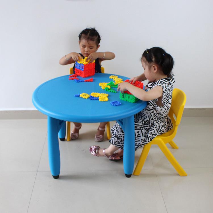 [해외]75 * 50cm 고품질 둥근 아이들 테이블 Eco-friendly 유치원 deskChairs/75*50cm high quality Round Children Tables Eco-friendly kindergarten deskChairs